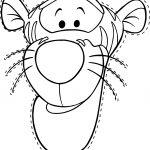 Tigger Mask Coloring Page