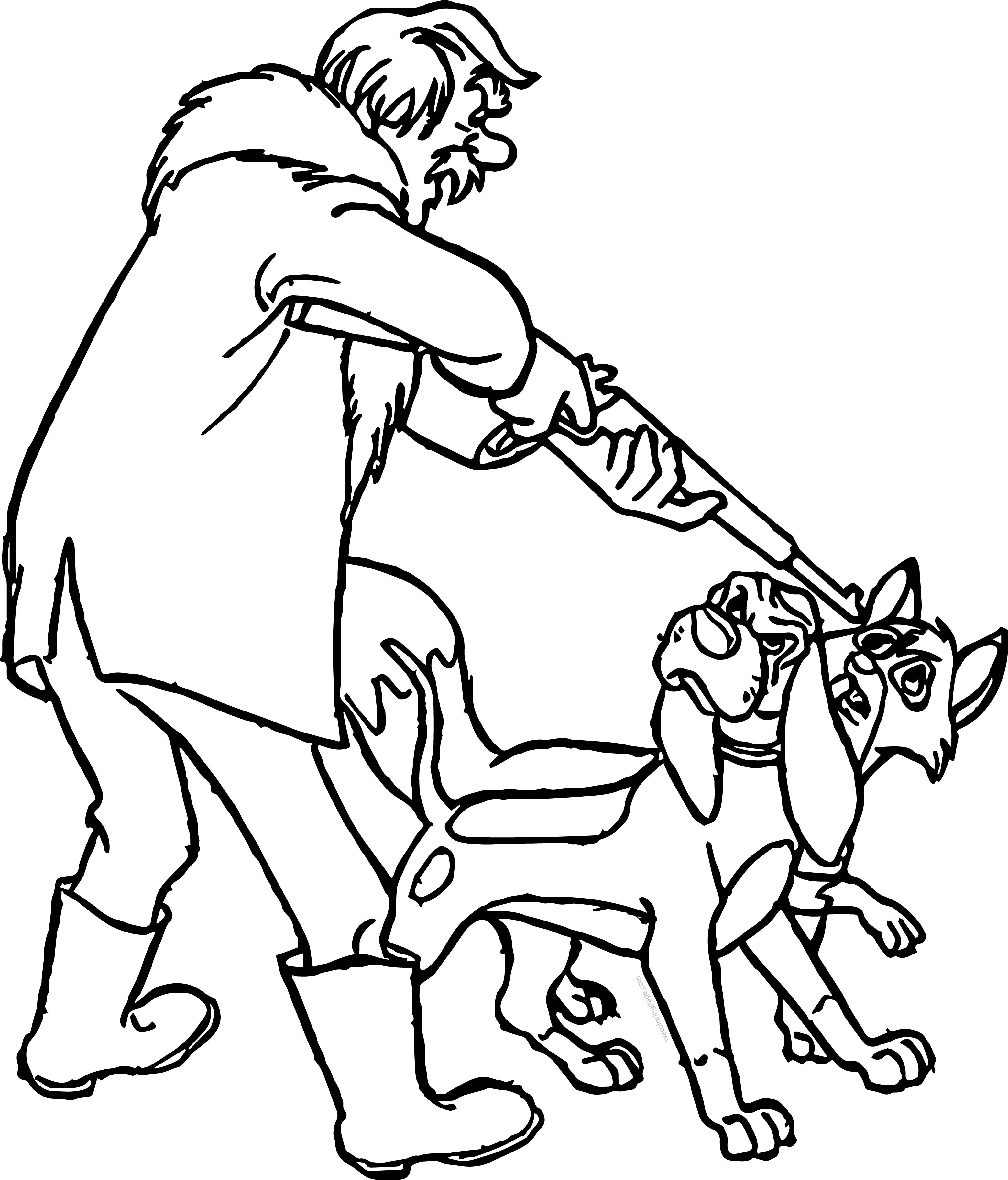 Todd The Fox Dangerous Cartoon Coloring Page