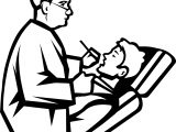 Tooth Doctor Treatment Child Coloring Page