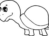 Tortoise Turtle Baby Big Head Coloring Page