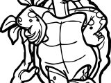 Tortoise Turtle Flower Coloring Page