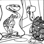 Tortoise Turtle Funny Mirror Coloring Page