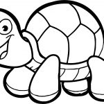 Tortoise Turtle Kids Coloring Page