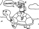Tortoise Turtle Onward Coloring Page