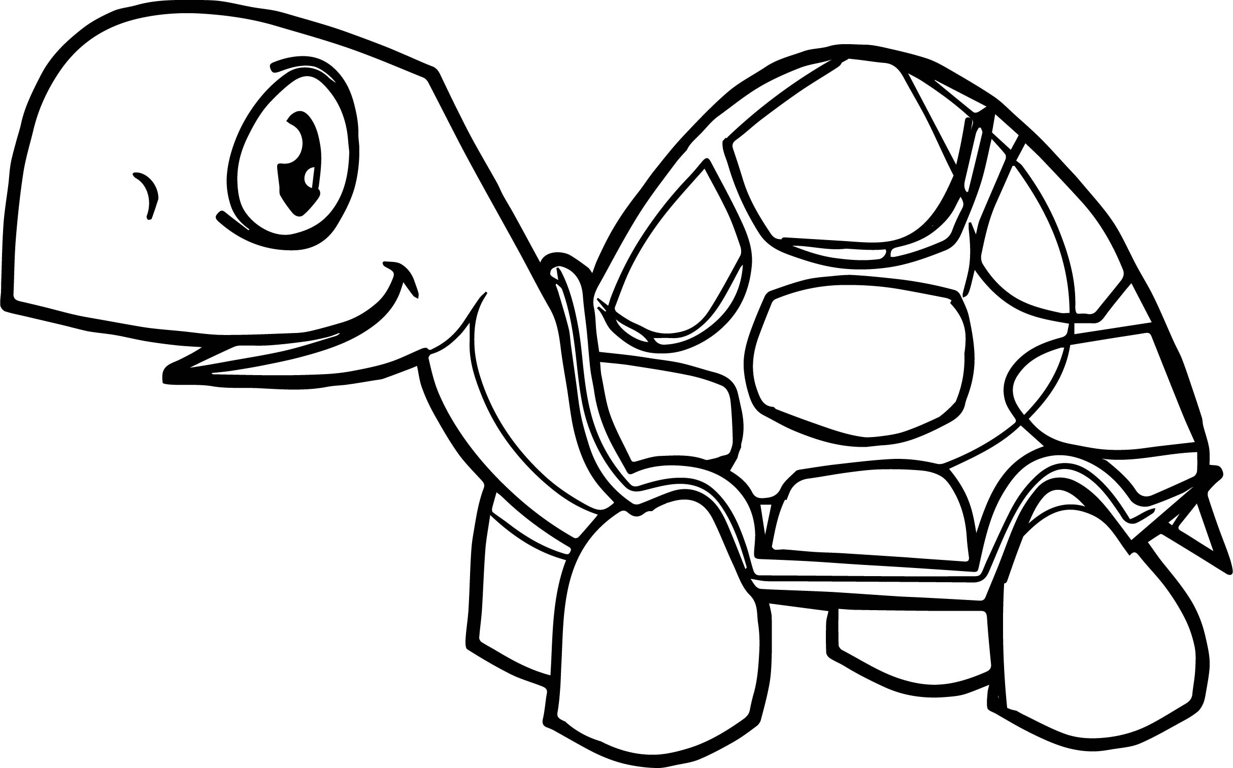 Tortoise Turtle Smile Coloring Page