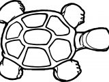 Tortoise Turtle Top View Coloring Page