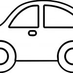 Toy Car Basic Side View Coloring Page