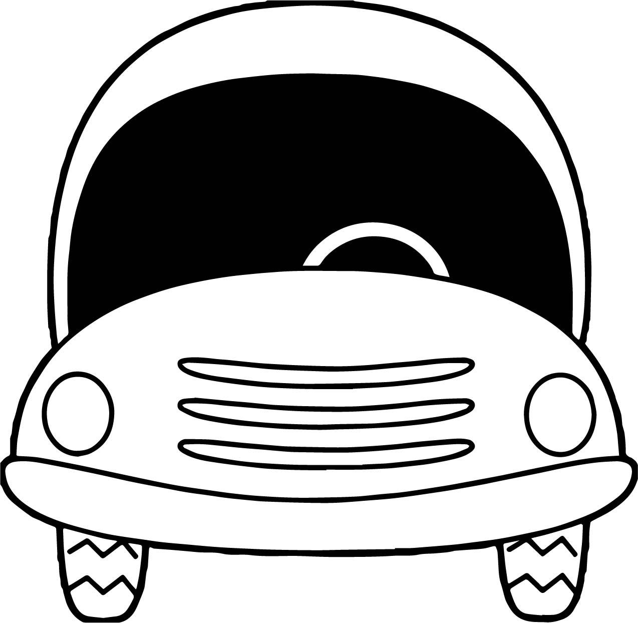 Toy Car Black Front Glass Coloring Page