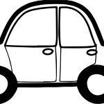 Toy Car Bold Coloring Page