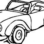 Toy Car Classical Coloring Page