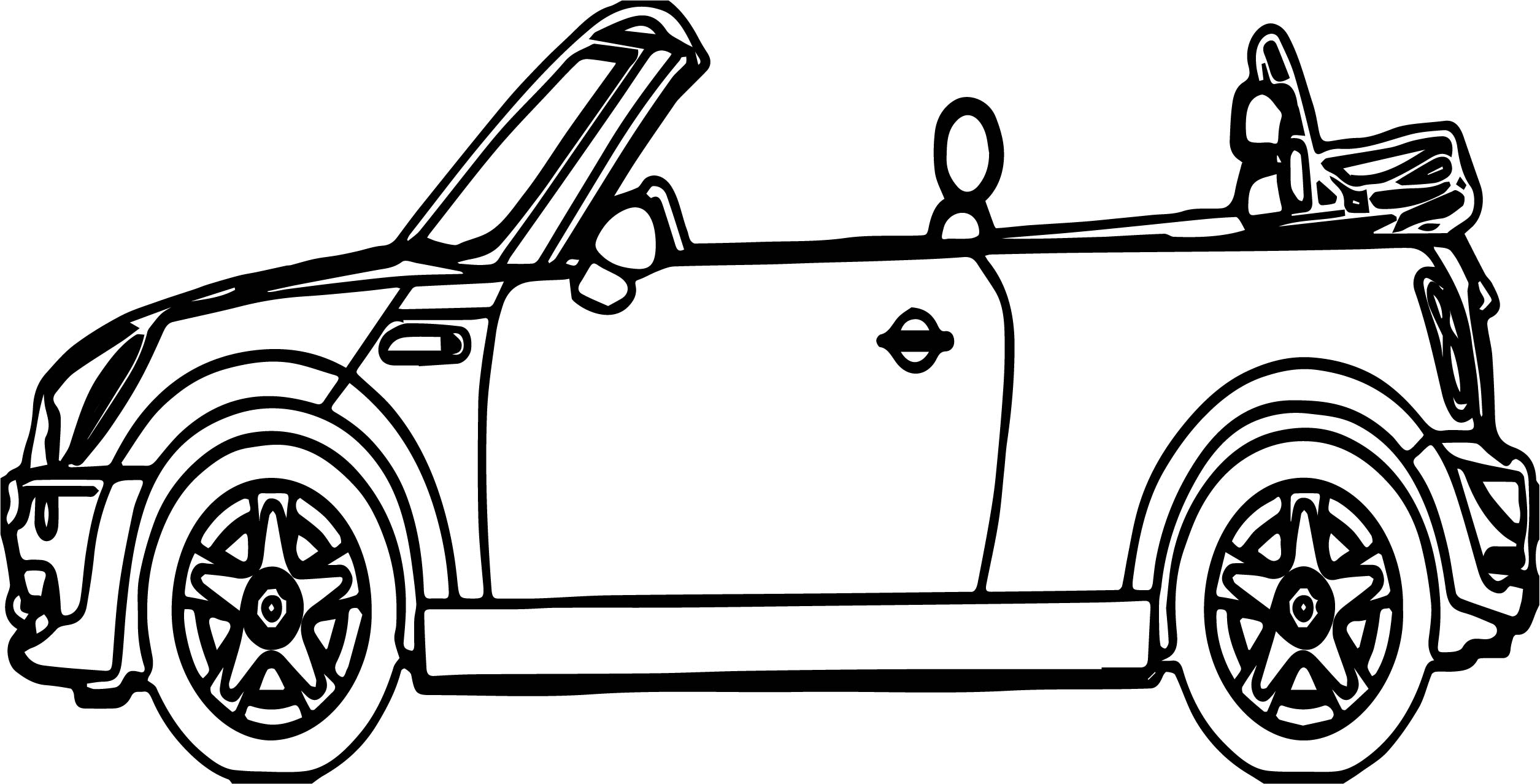 Toy Car Outline Coloring Page