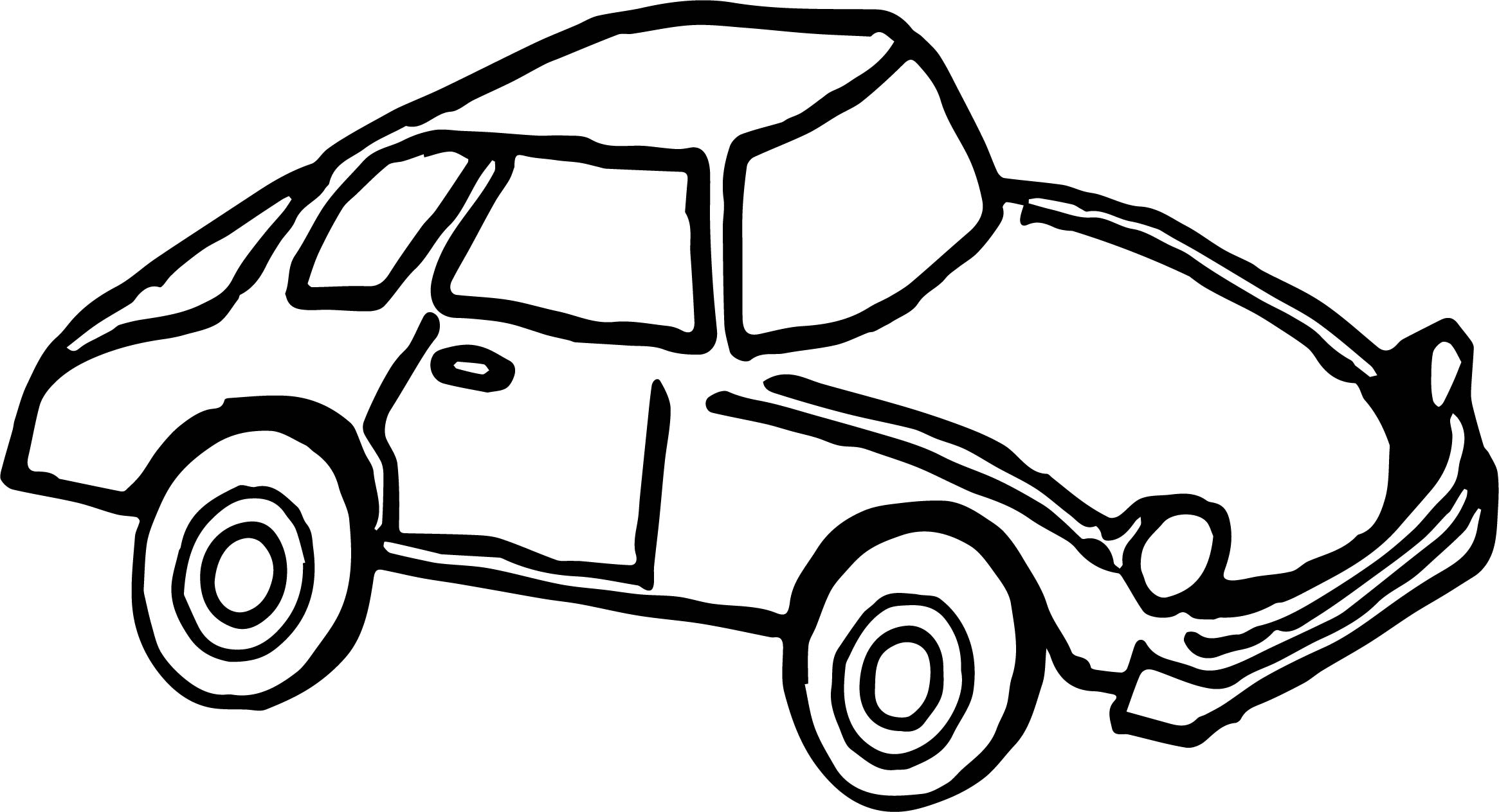 Toy Car Smaller Coloring Page