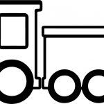 Train And Two Box Coloring Page