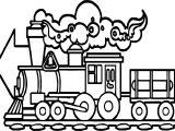 Train Arrow Go Coloring Page