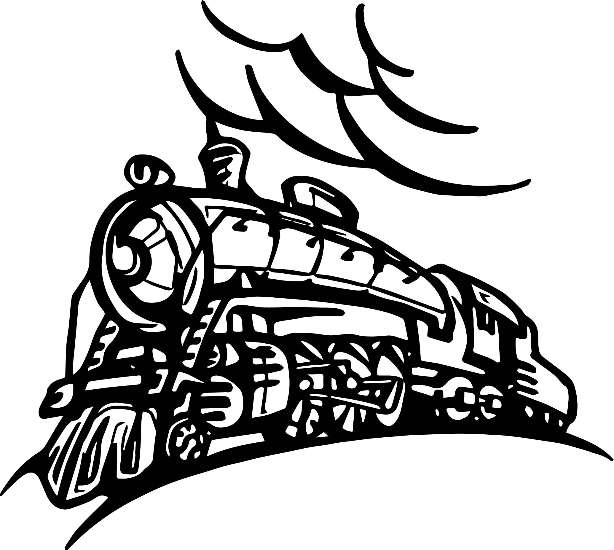 Train Bend Coloring Page