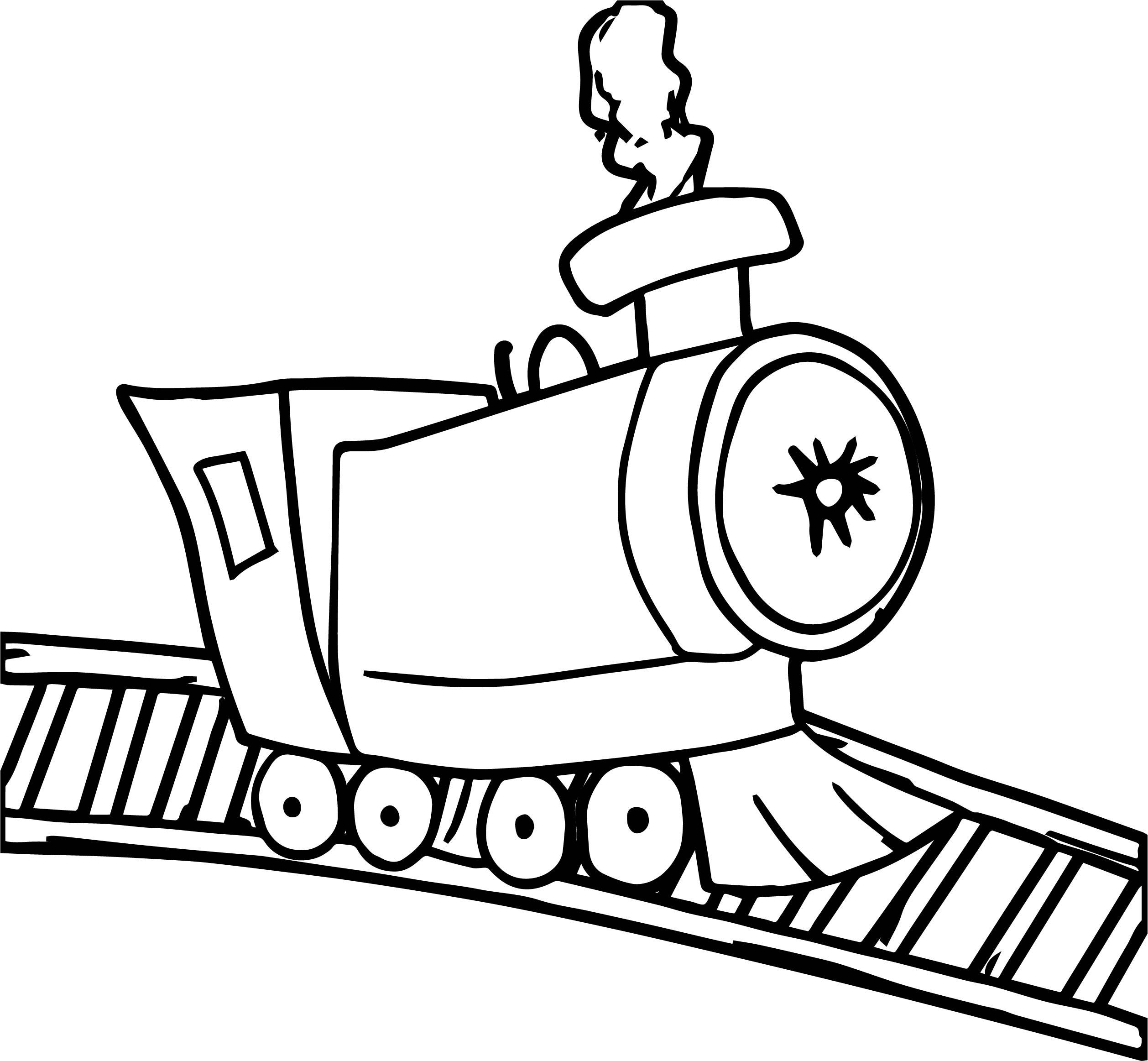 Train Brake Coloring Page