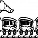 Train Bus Coloring Page