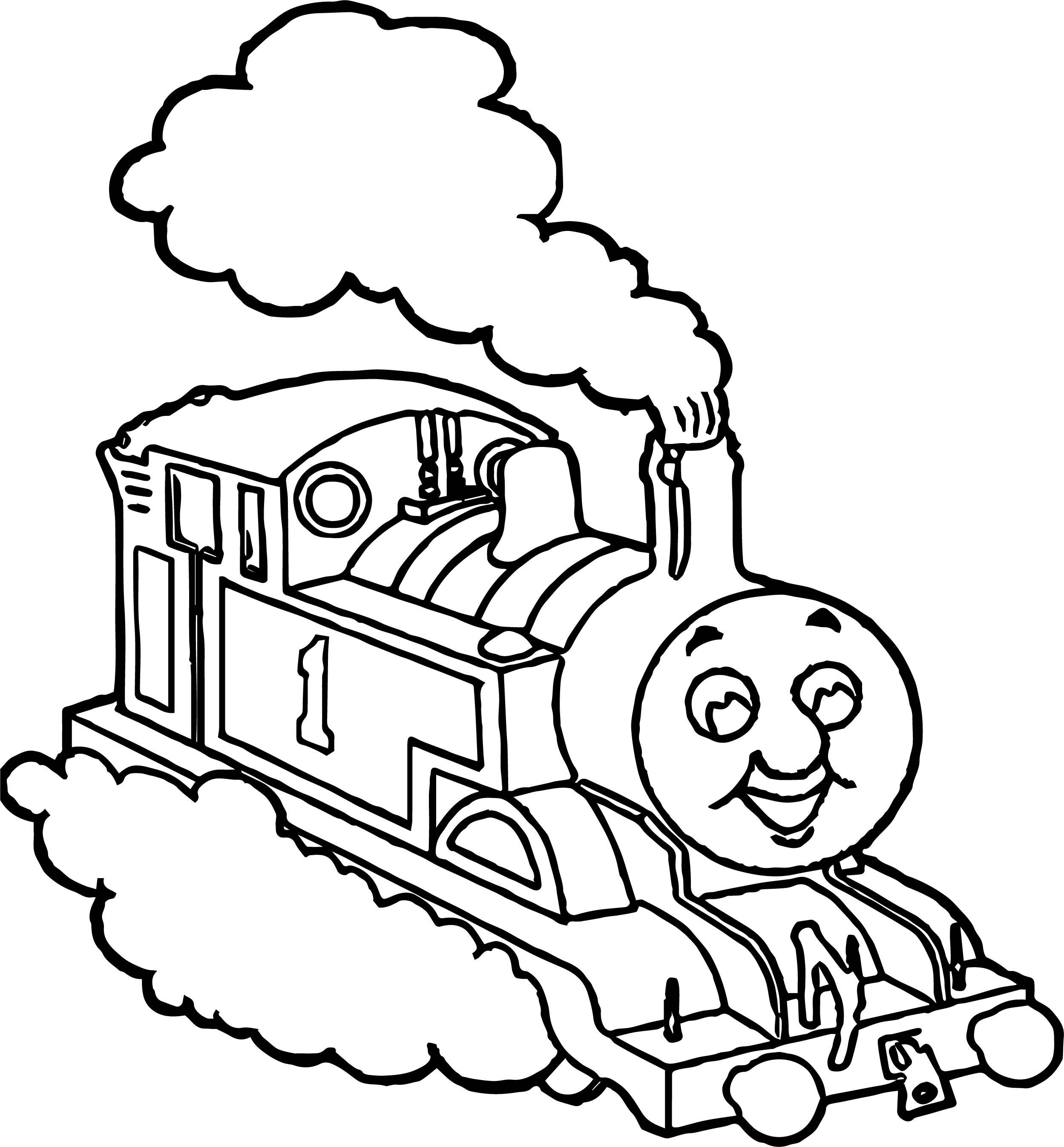 Train Cloud Coloring Pages