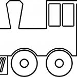 Train Middle Coloring Page