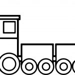 Train Toy Coloring Page