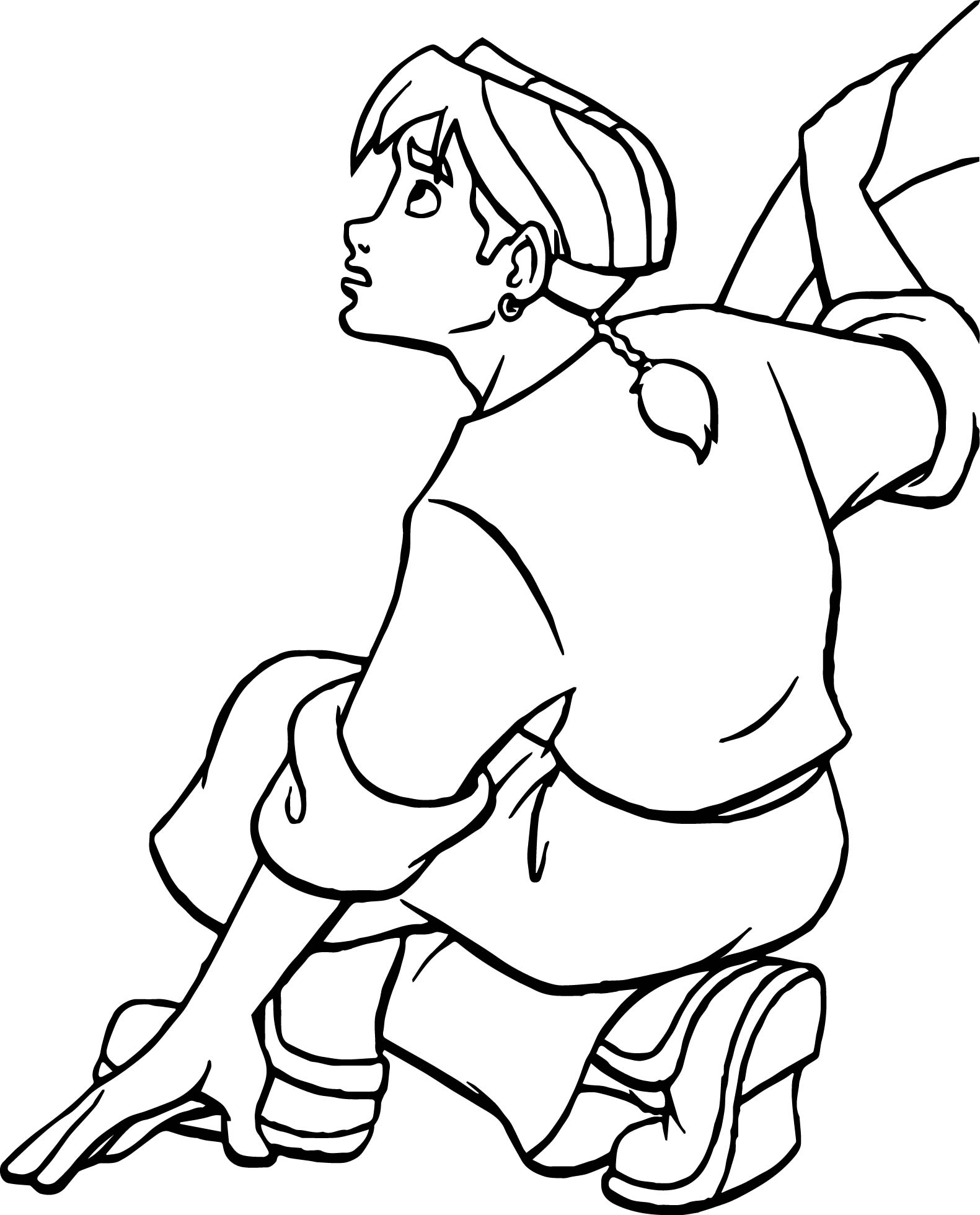 Treasure Planet Jim Boy Waiting Coloring Pages