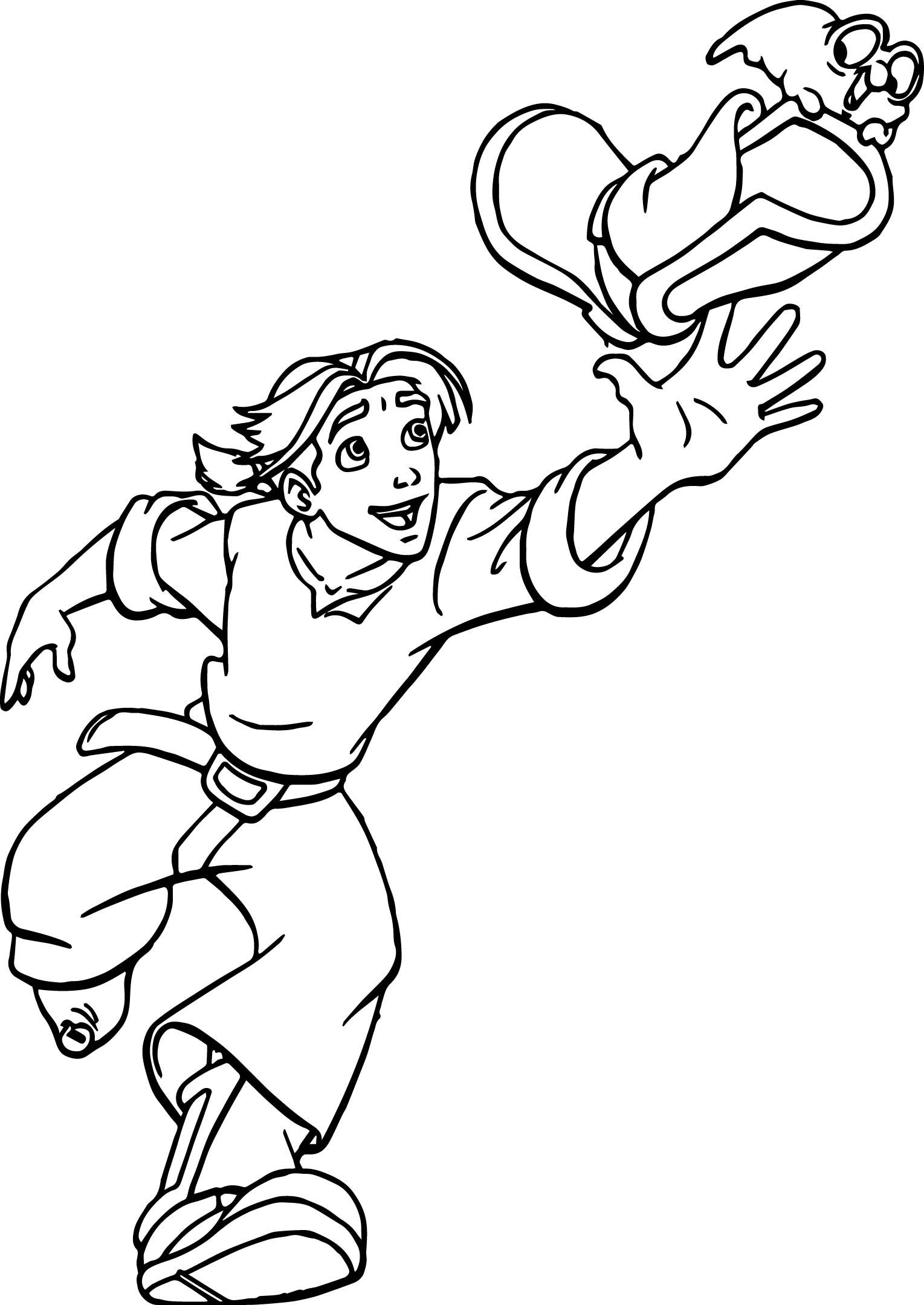 Treasure Planet Jim Catch Coloring Pages