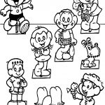 Turma Da Monica All Character Coloring Page