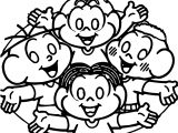 Turma Da Monica All Kids Coloring Page