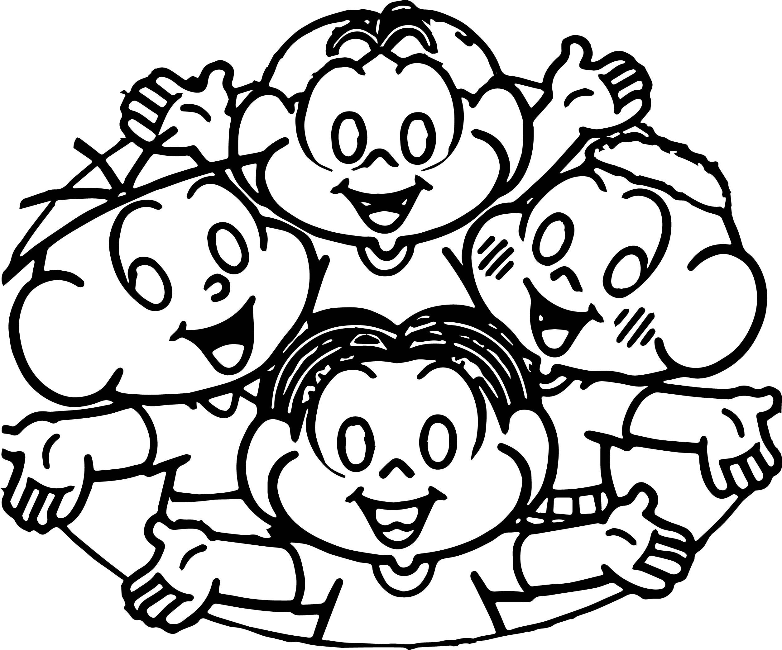 Turma Da Monica All Kids Coloring Page