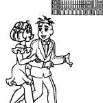 Turma Da Monica And Boyfriend Orchestra Coloring Page