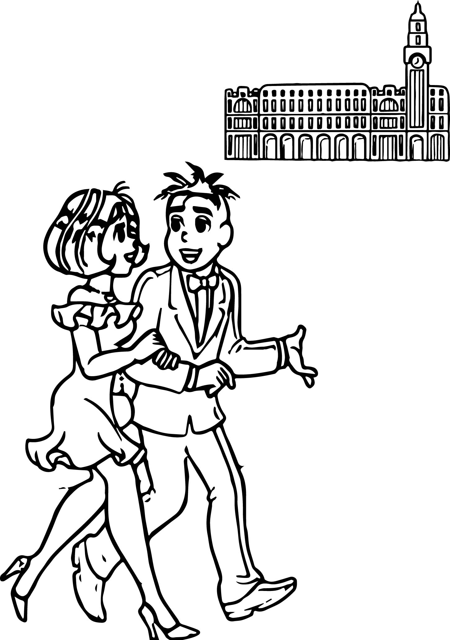 Turma Da Monica And Boyfriend Orchestra Coloring Page