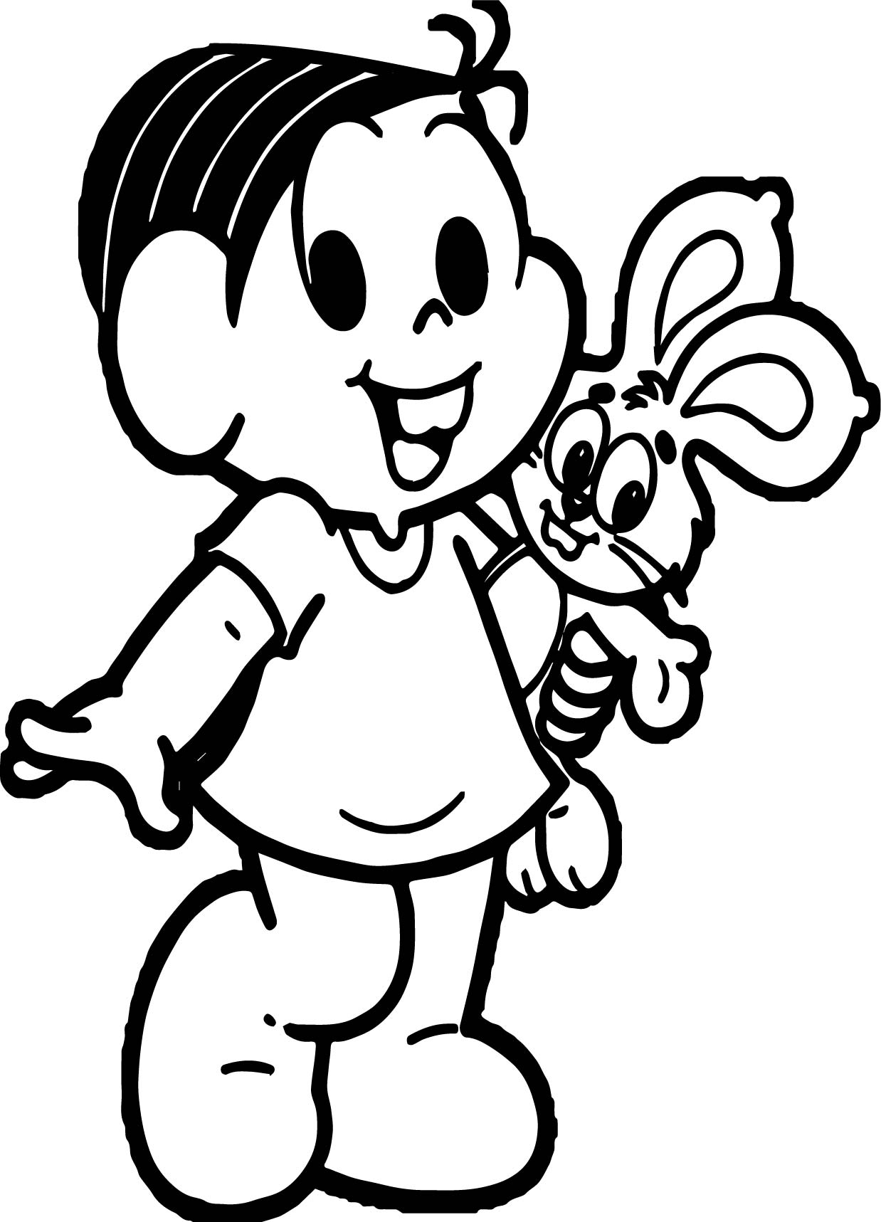 Turma Da Monica And Bunny Toy Coloring Page