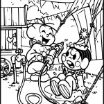 Turma Da Monica And Cascao Circus Joke Coloring Page