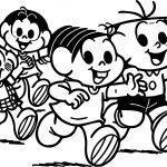 Turma Da Monica And Friends Hello Coloring Page