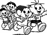Turma Da Monica And Friends Hello Coloring Page