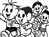 Turma Da Monica And Friends Show Coloring Page