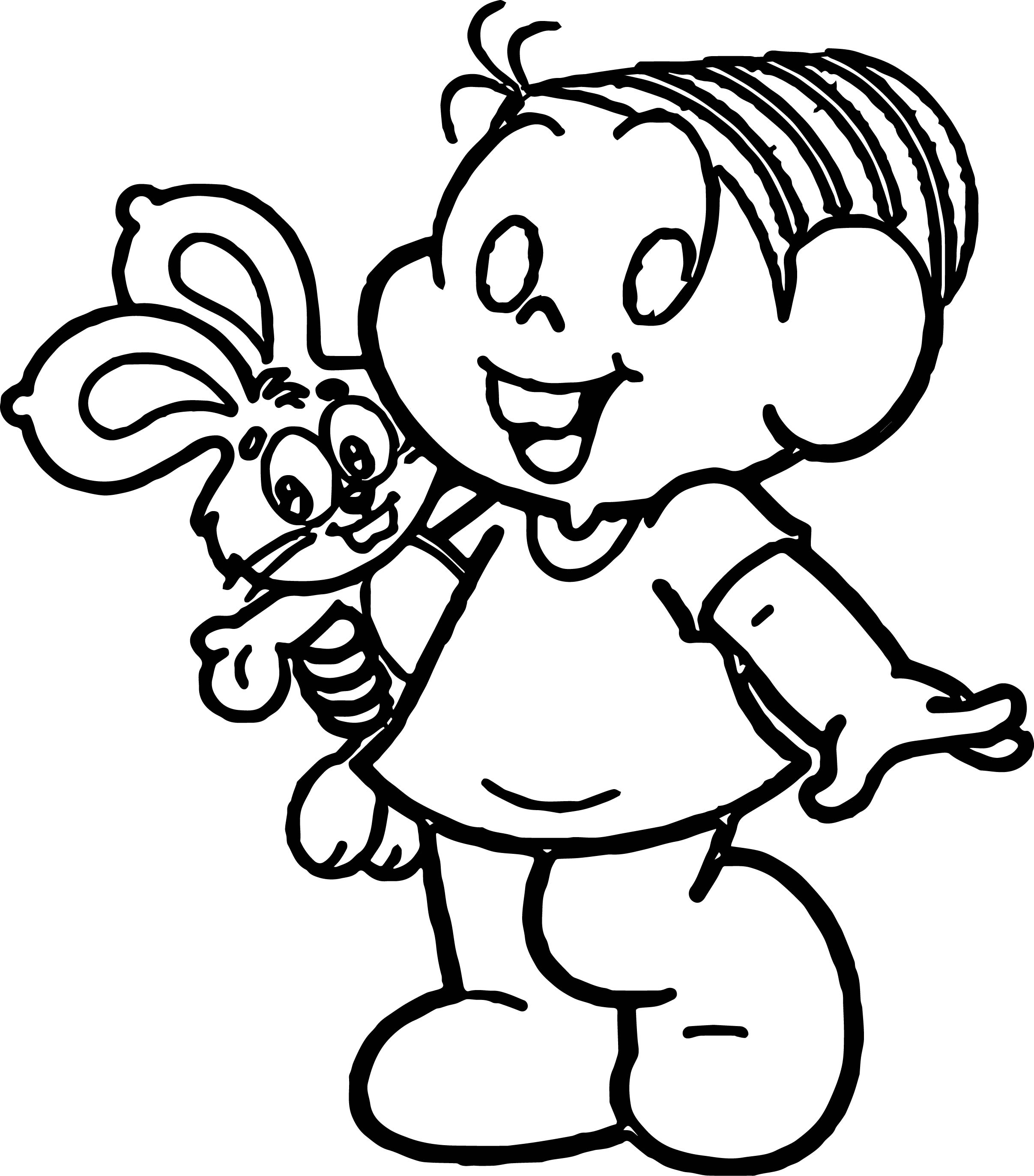 turma da monica and toy bunny happy times coloring page