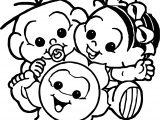 Turma Da Monica Baby Coloring Page