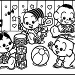 Turma Da Monica Baby Playing Game Coloring Page