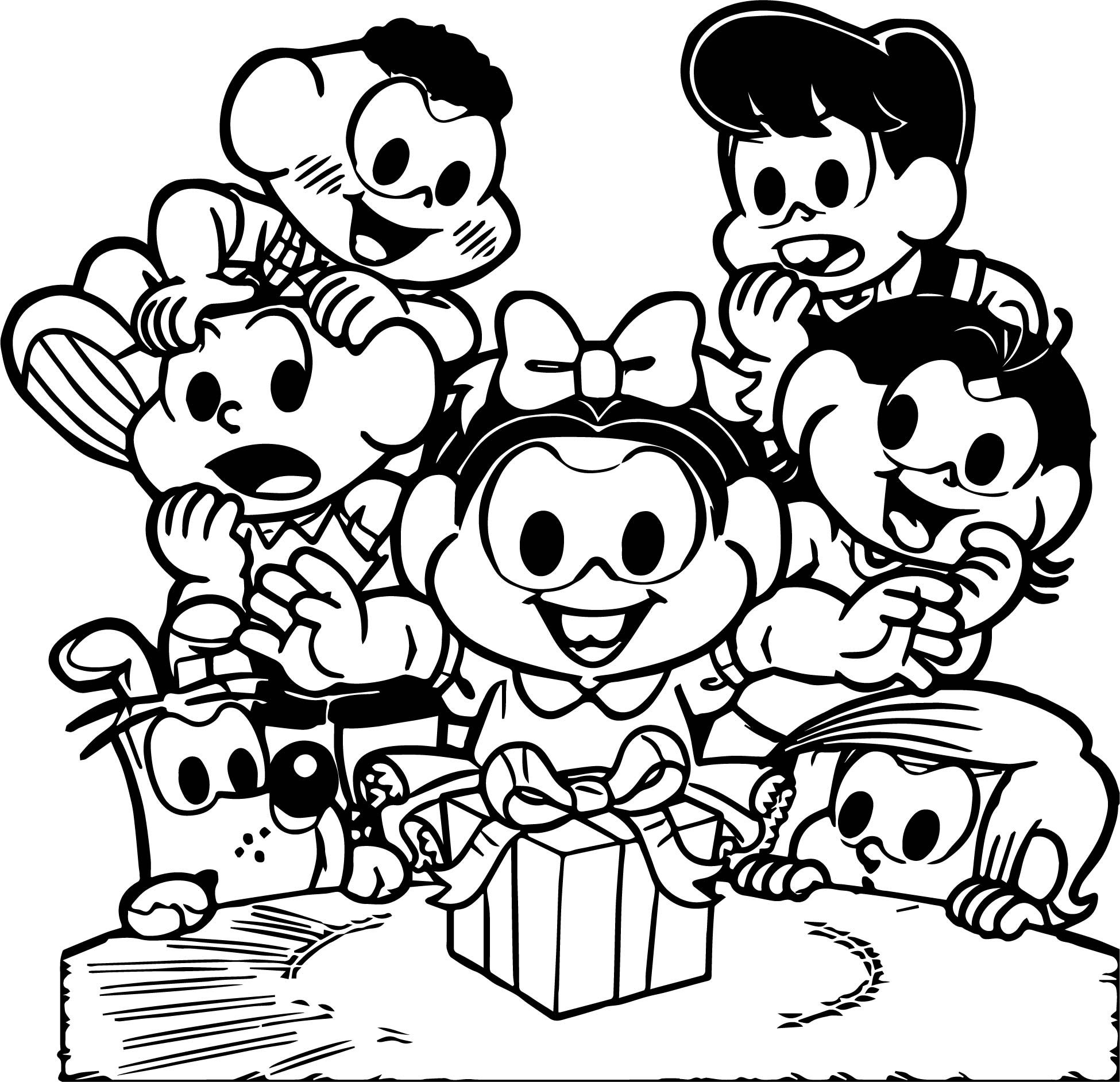 Turma Da Monica Big Suprise Coloring Page