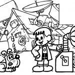 Turma Da Monica Boy Professor Time Machine Coloring Page