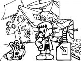 Turma Da Monica Boy Professor Time Machine Coloring Page