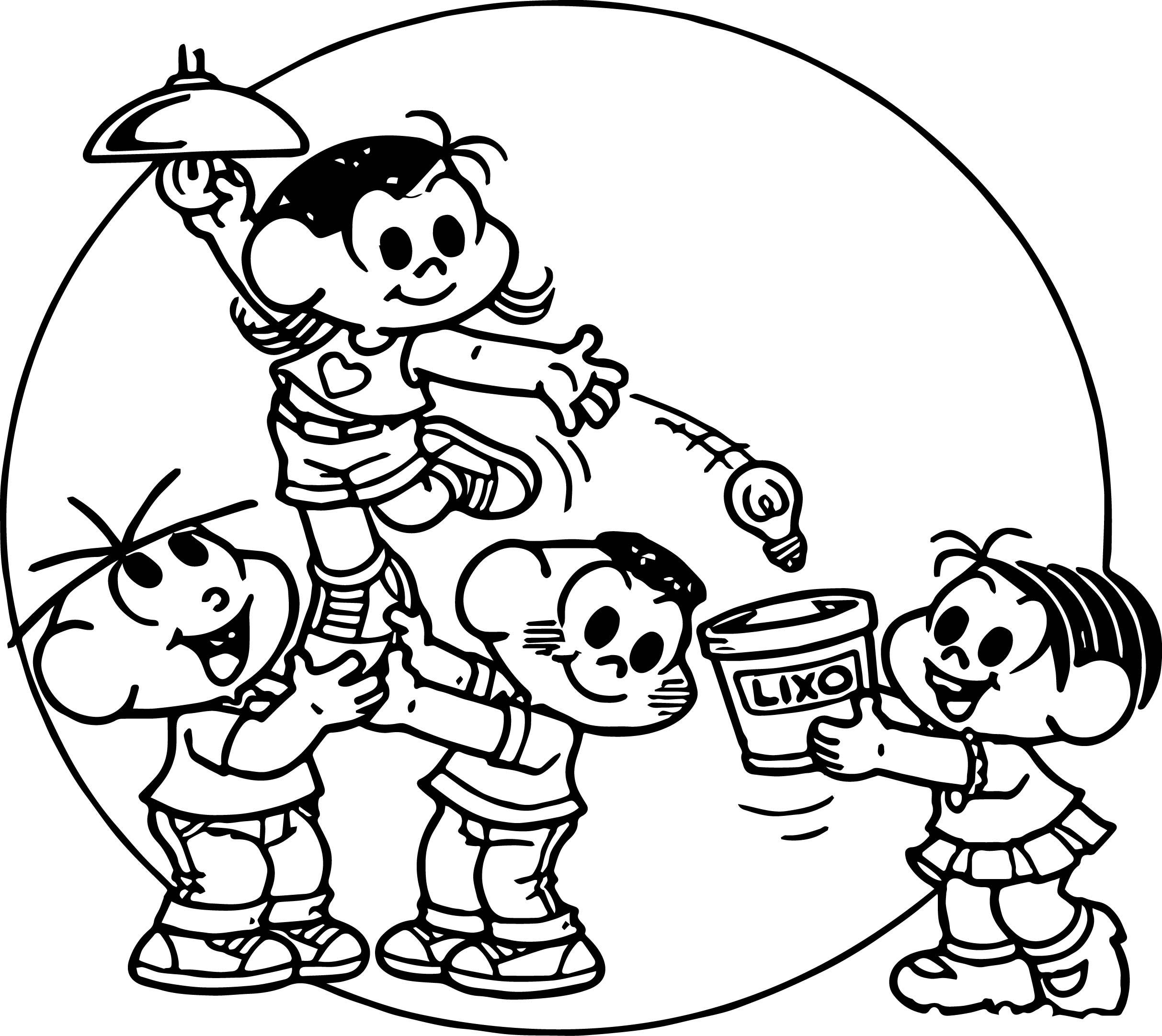 Turma Da Monica Bulb Coloring Page