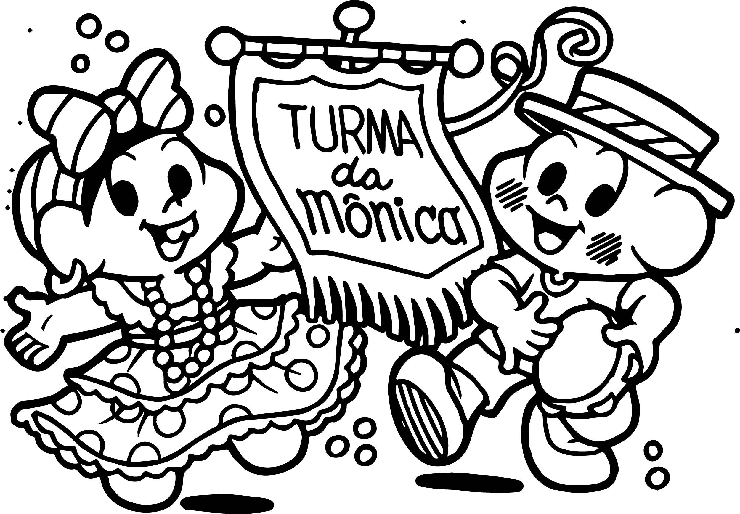 Turma Da Monica Carnaval Coloring Page
