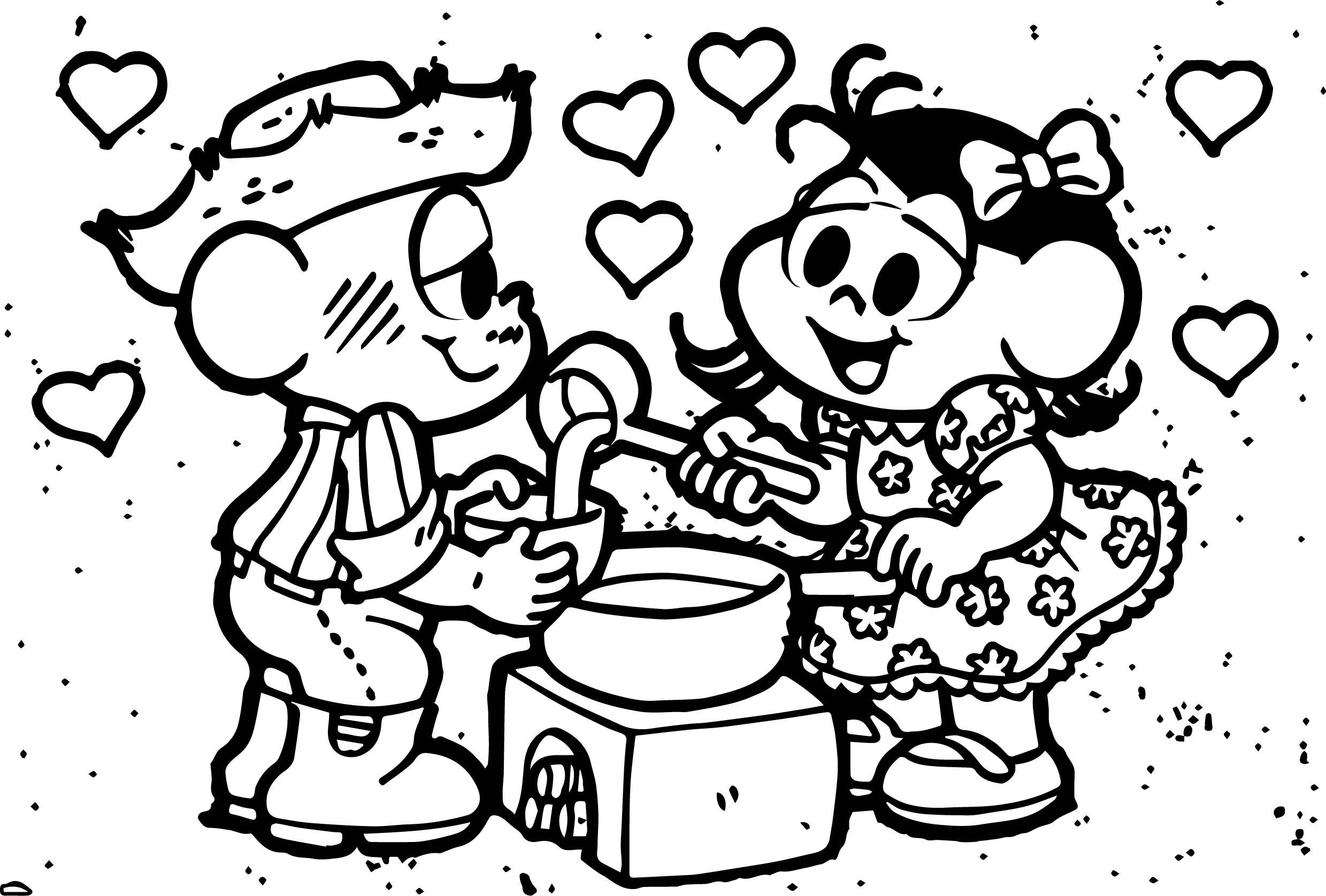 Turma Da Monica Cascao Food Coloring Page