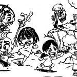 Turma Da Monica Chibi Kids Play Coloring Page