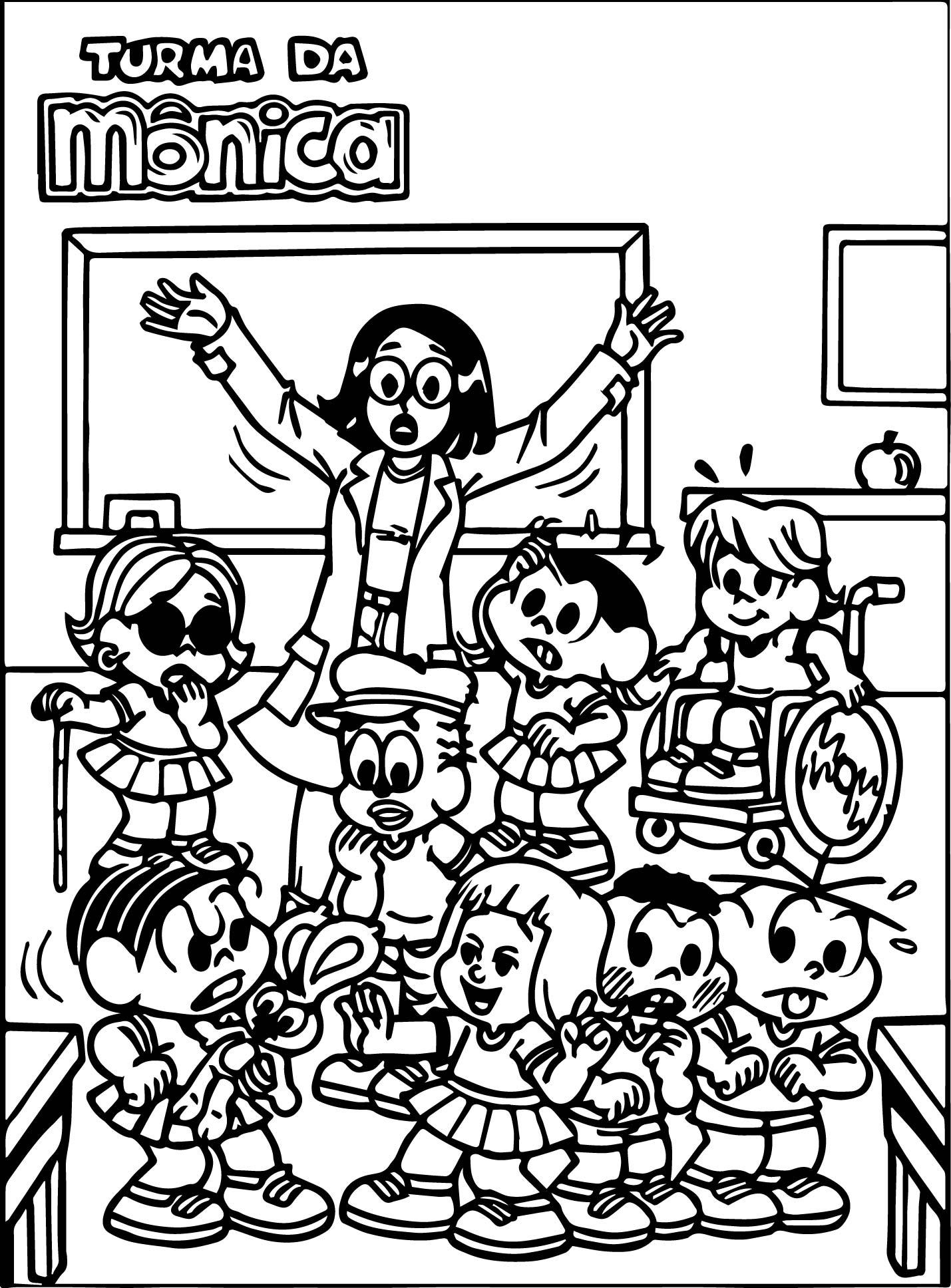 Turma Da Monica Classroom Coloring Page