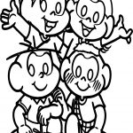 Turma Da Monica Four Kids Coloring Page