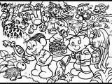 Turma Da Monica Friends And Animals Coloring Page