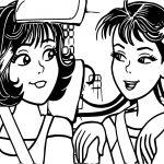 Turma Da Monica Girl Driving Car Coloring Page